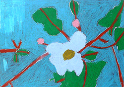 Flower by Jonathan, a former student at a school for deaf children