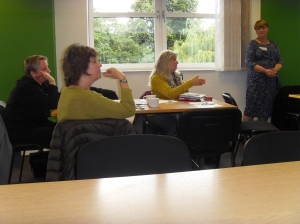 Professionals share ideas at a recent GLADE meeting.