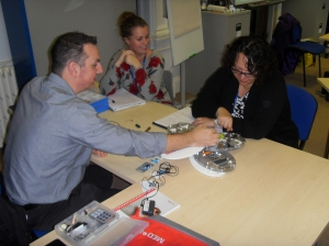 An audiology demonstration on the BTEC course.